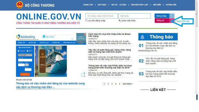 Để bắt đầu kinh doanh online, đại lý cần đăng ký website của mình với Bộ Công Thương.