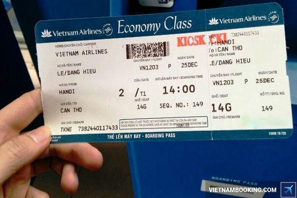 Kiểm tra thông tin trên vé