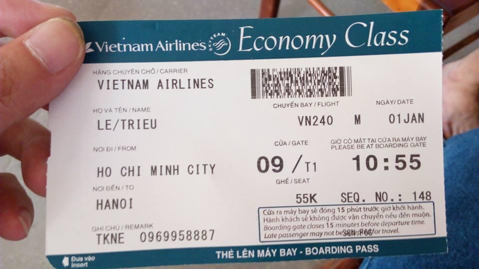 Vé máy bay hạng E của Vietnam airline